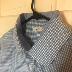 Perry Ellis Slim Fit Button Down Shirt 32/33 16.5